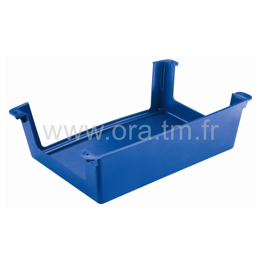 CSTAB - CASIER PLASTIQUE - FIXATION SOUS TABLE