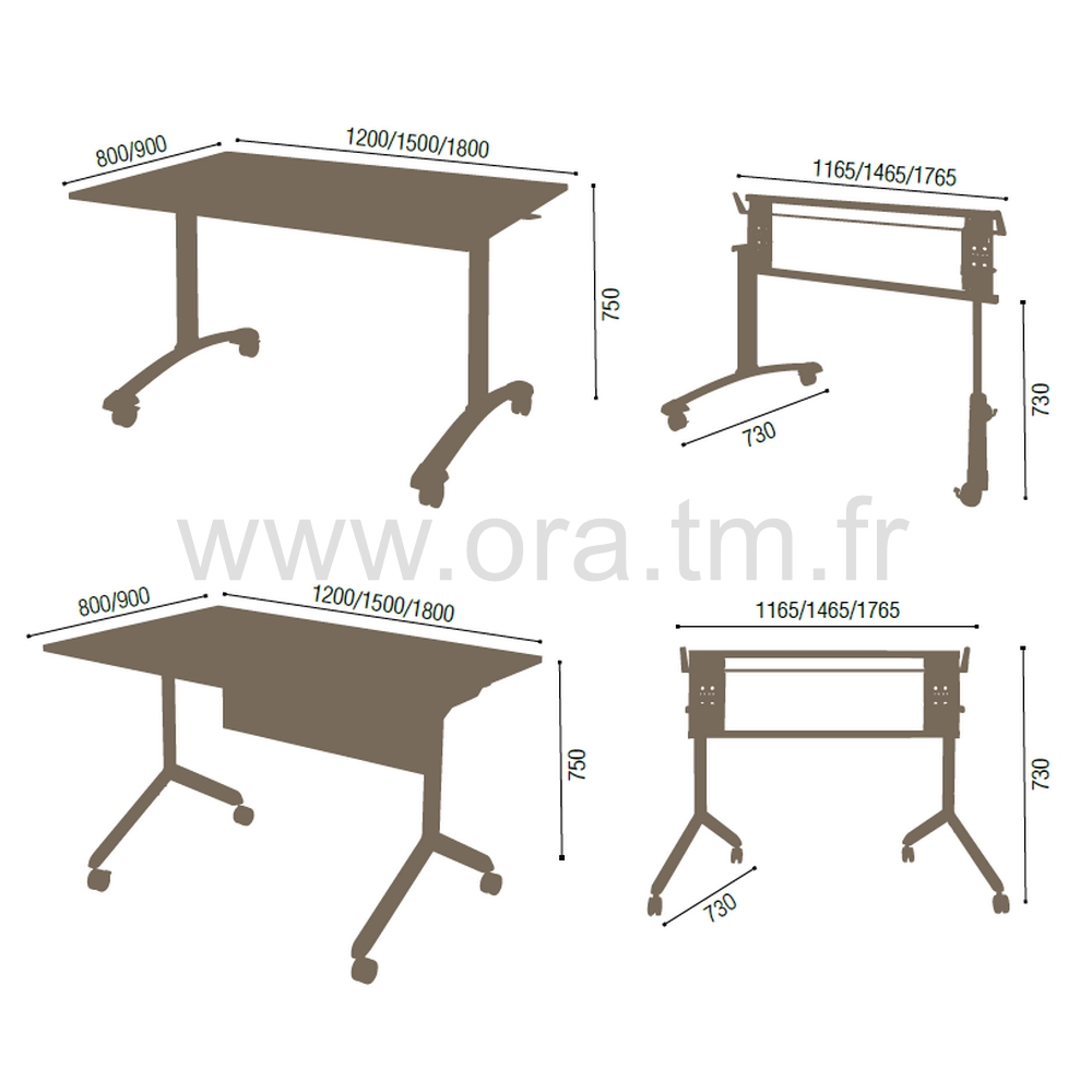 TIPER - SYSTEME TABLE BASCULANT - PIETEMENT TUBULAIRE
