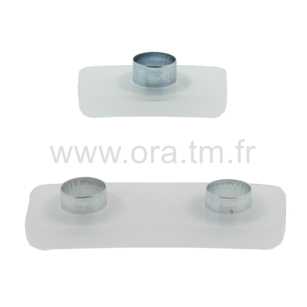 GRVR - PATIN ATTACHE A FORCER - BASE RECTANGULAIRE