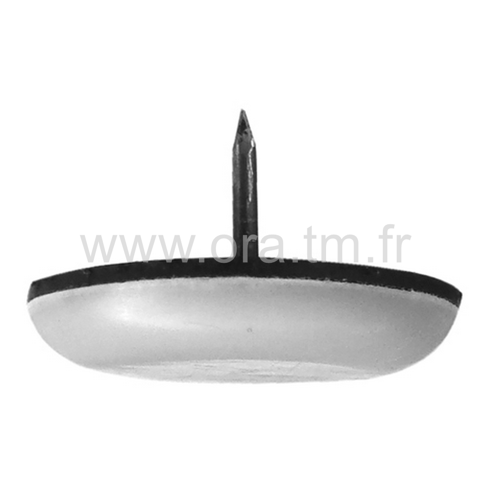 PCG - PATIN GLISSOR PTFE - CYLINDRIQUE FIXATION CLOU
