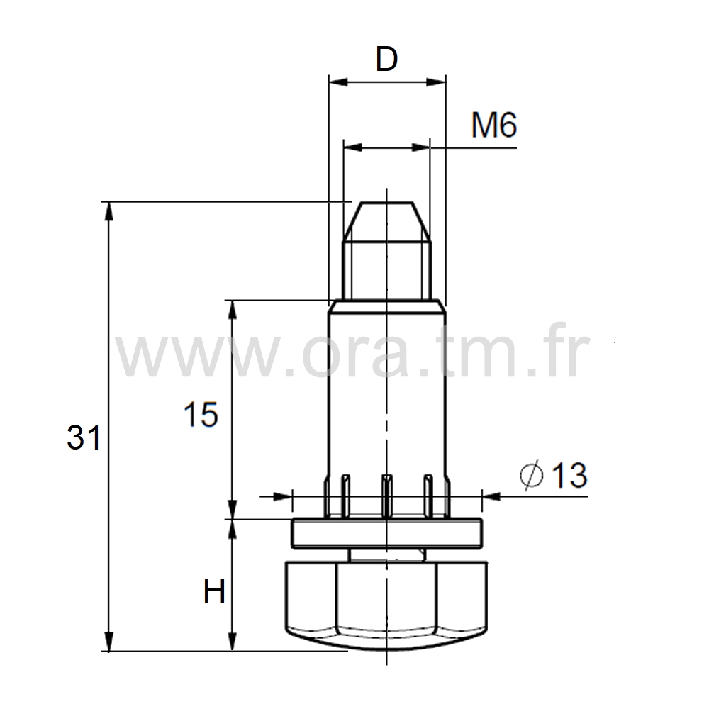 IVA - INSERT VERIN - DOUILLE CYLINDRIQUE