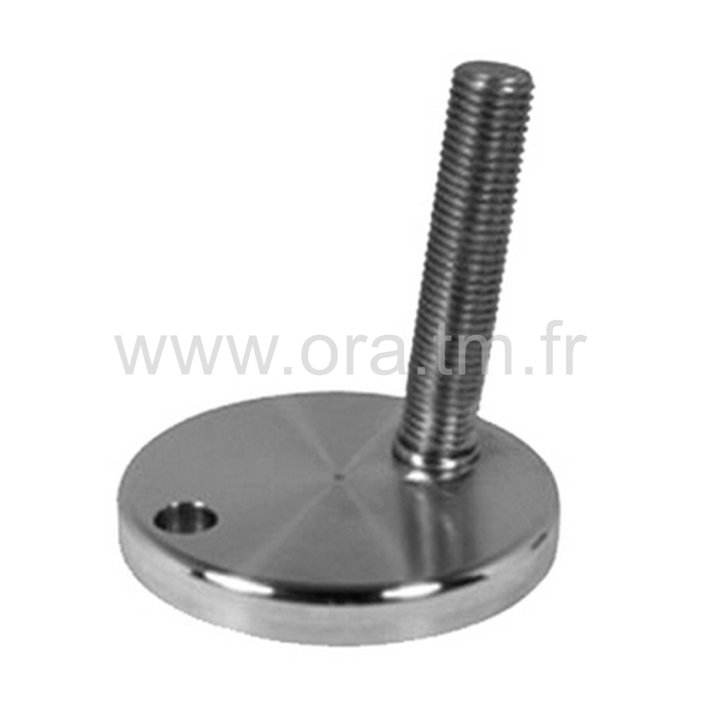 VSQ - VERIN MACHINE REGLABLE - BASE CYLINDRIQUE METAL