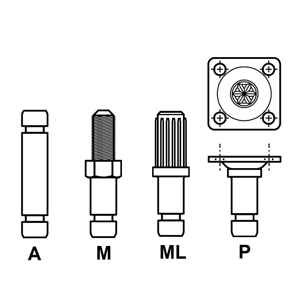ECO - ROULETTE DOUBLE GALET - ROULEMENT LIBRE