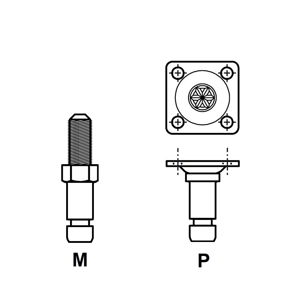 G820 - FIXATION PIVOTANTE - ROULETTES & PATINS