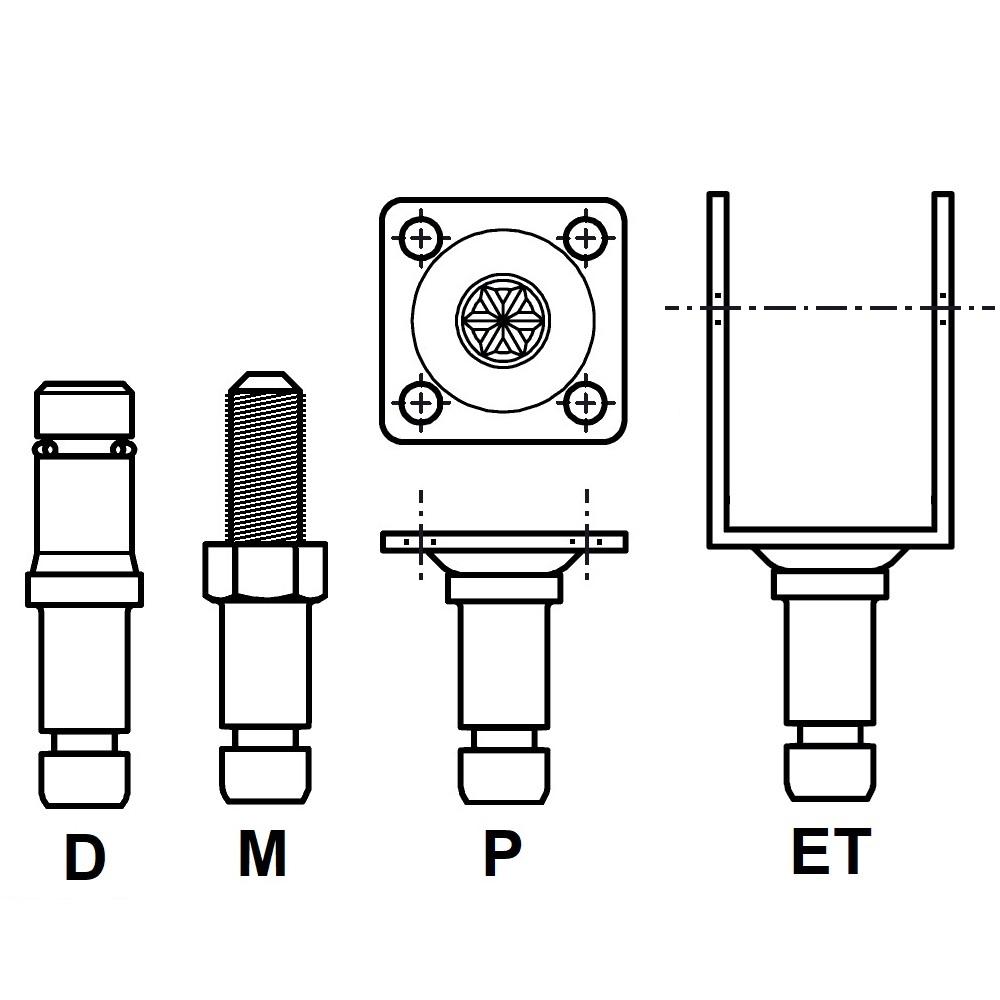 G8L30 - FIXATION PIVOTANTE - ROULETTES & PATINS