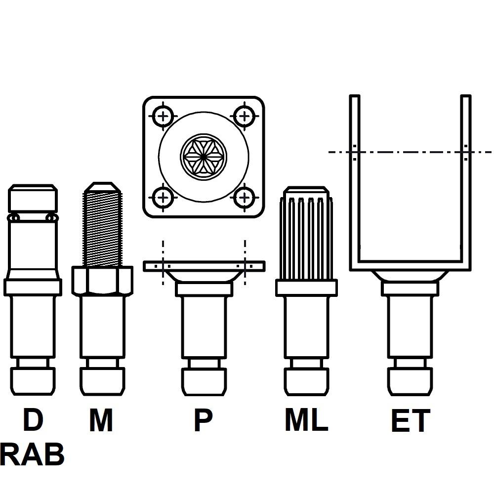 RACE - ROULETTE DOUBLE GALET - ROULEMENT LIBRE