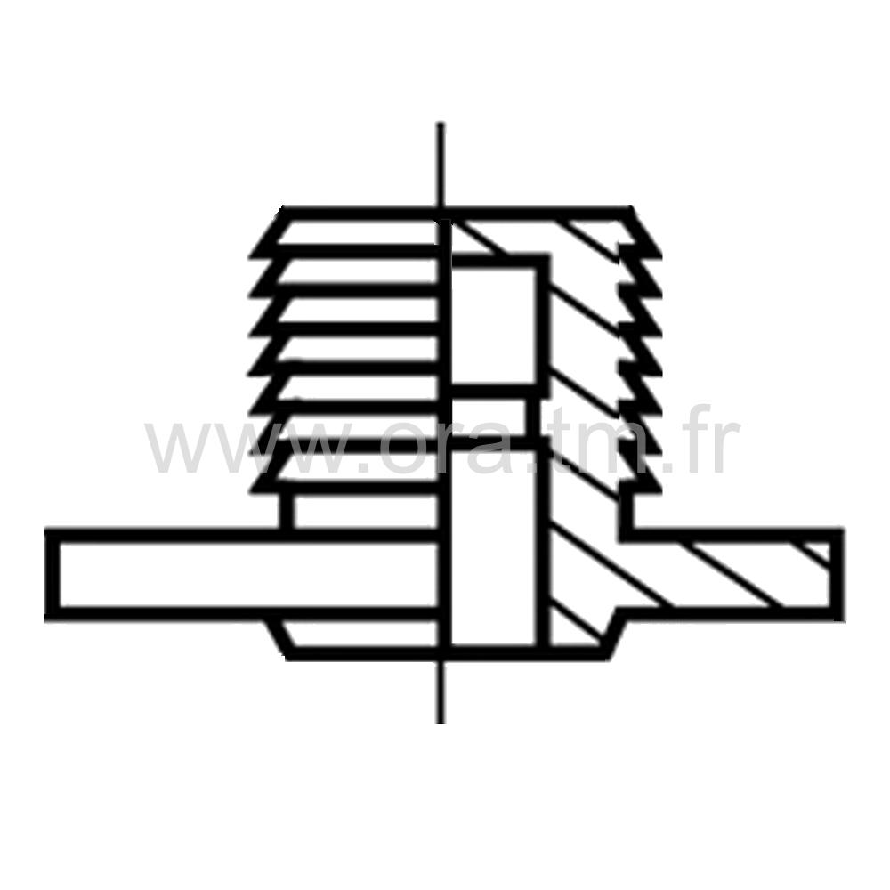 SUPER - ROULETTE DOUBLE GALET - ROULEMENT LIBRE & FREINE