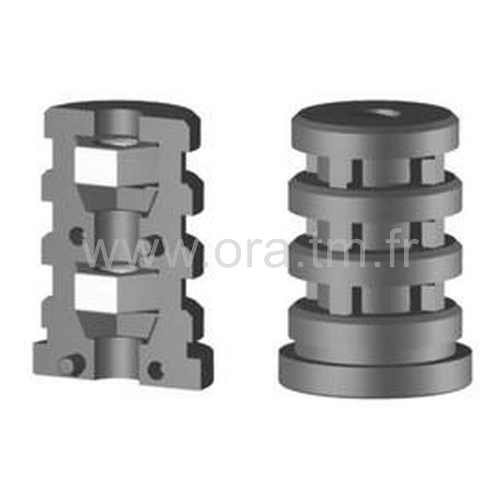 EXY - MANCHON FILETE EXPANSOR - SECTION CYLINDRIQUE