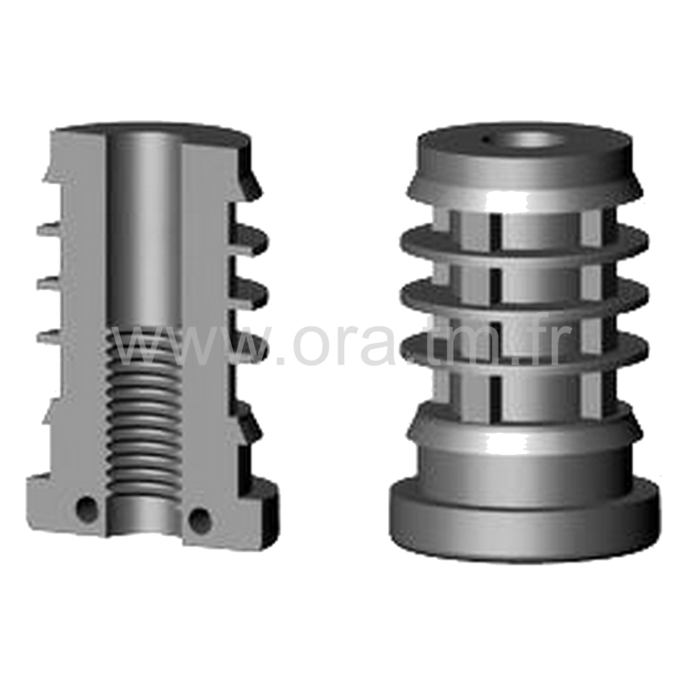 IOY - INSERTION FILETEE - SECTION CYLINDRIQUE